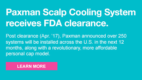 The Paxman Scalp Cooling System seeks FDA clearance